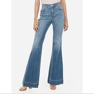 Express Jeans - Express - High Waisted Light Wash Bell Flare Jeans